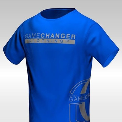 game changer tshirt. (blue/gray)