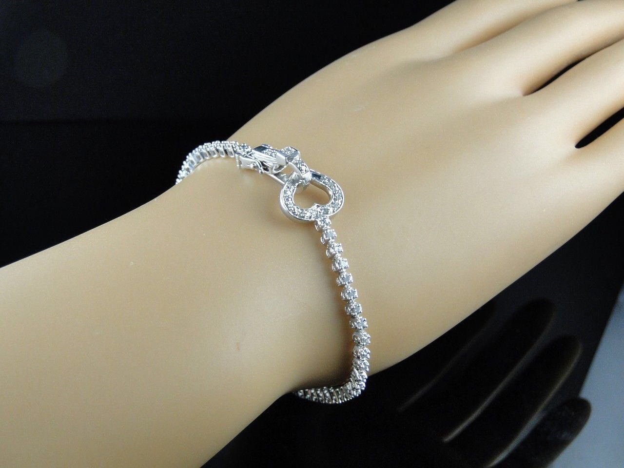 products silver yogajewelz petite bracelet single diamond om whitegold com
