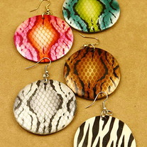 Animal Print Earrings - Various Colors