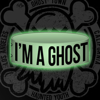 "Glow in the Dark ""I'm A Ghost"" Wristband"