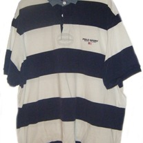 Ralph Lauren Polo Sport Rugby Shirt - Blue/Cream