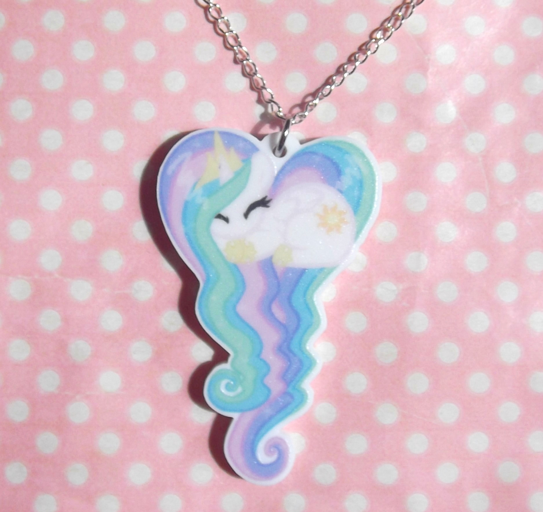 Home kawaii kave online store powered by storenvy princess celestia my little pony friendship is magic sleeping heart necklace aloadofball Gallery