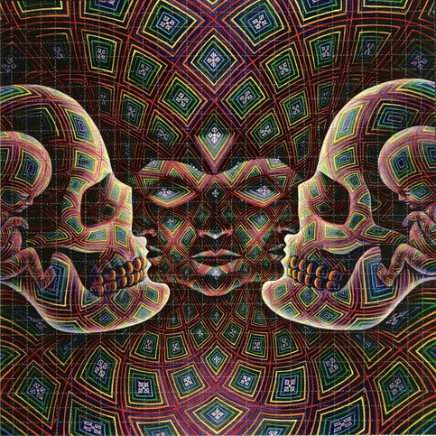 Alex Grey Quot Vajra Being Quot Blotter Art On Storenvy