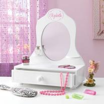 KidKraft Personalized White Tabletop Vanity