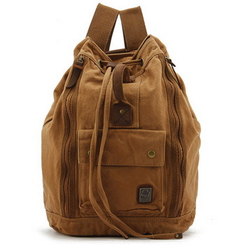 Camping canvas duffle backpacks | bucket laptop pack