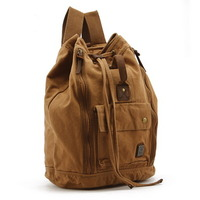 Camping canvas duffle backpacks | bucket laptop pack - Thumbnail 1