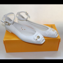FENDI VINTAGE PAIR BALLET FLAT SHOES JELLY PLASTIC SIZE 39 LOGO