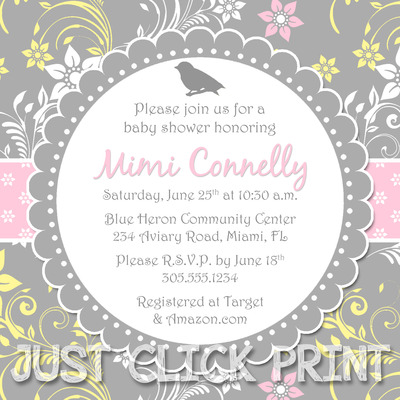 baby shower invitation download