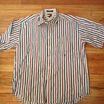 Tommy Hilfiger Stripped Linen Button Up
