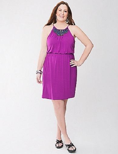 14 16w lane bryant purple embellished knit dress on storenvy for Lane bryant wedding dress