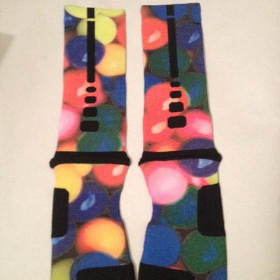 Custom nike elite socks quot gumballs quot 183 sock insanity 183 online store