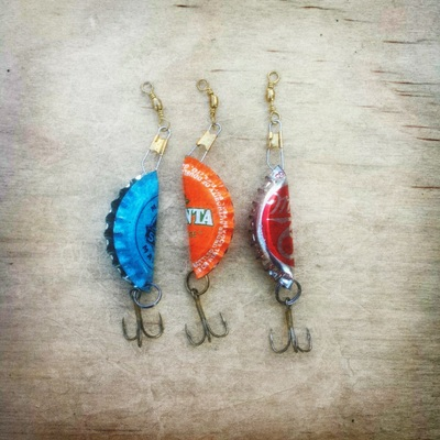 Home folk lures online store powered by storenvy for Bottle cap fishing lure