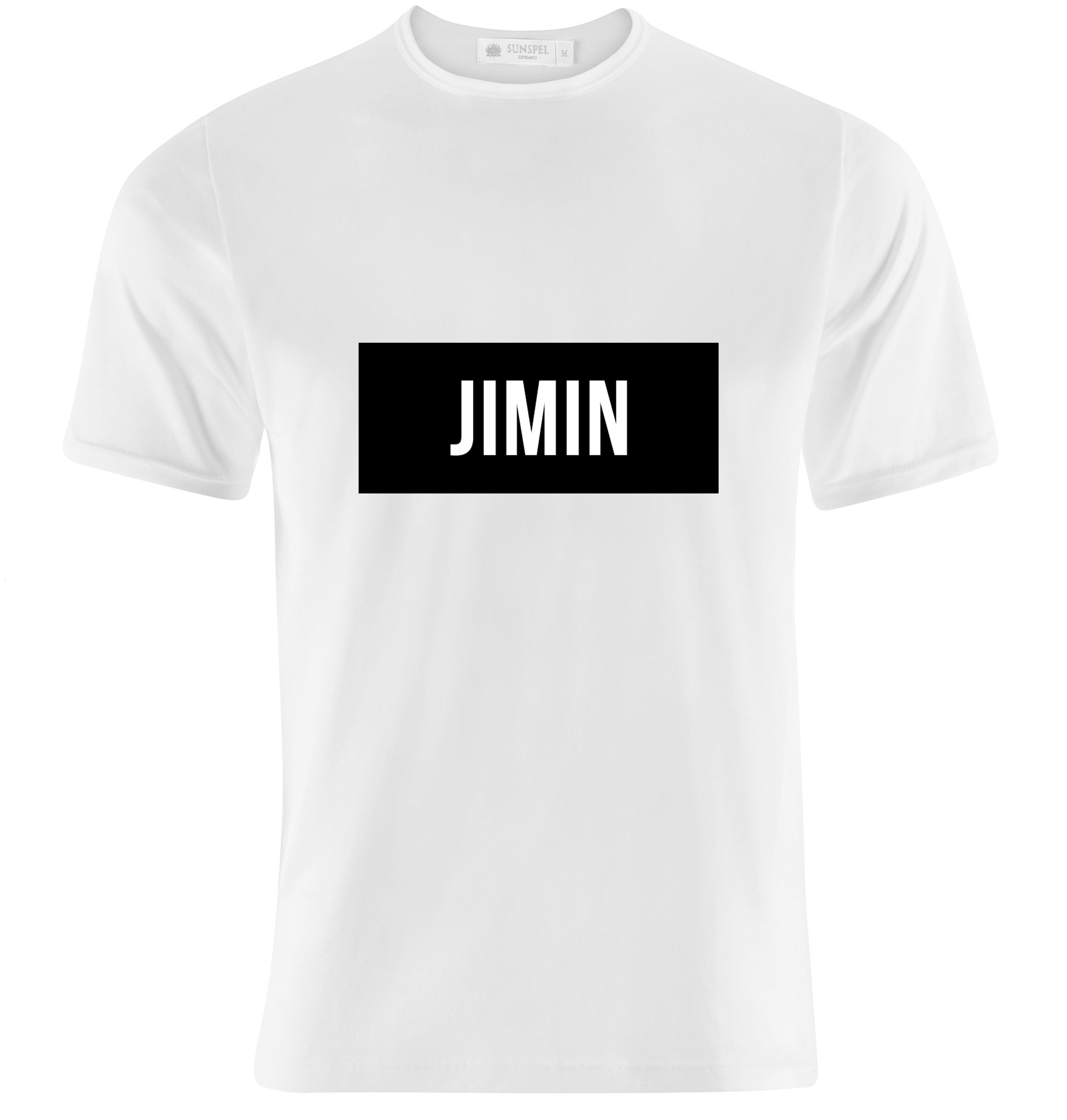 Bts jimin name tag bobaculture online store powered for Custom t shirts mississauga