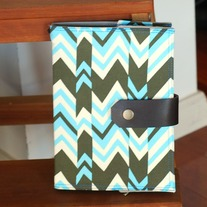 Fabric Covered A5 Journal - Chevron