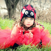 Ladybug Lady Love Bug Handmade Crochet Girls Hat