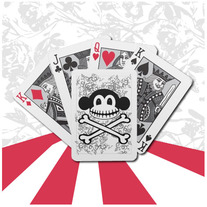 Pumpkin Skeleton Crossbones Playing Cards