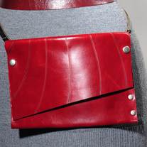 Fahmina Eco Leather Fanny Clutch™ in red