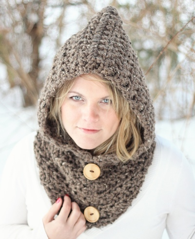 CROCHET PATTERN HOODIE Cowl The Toronto