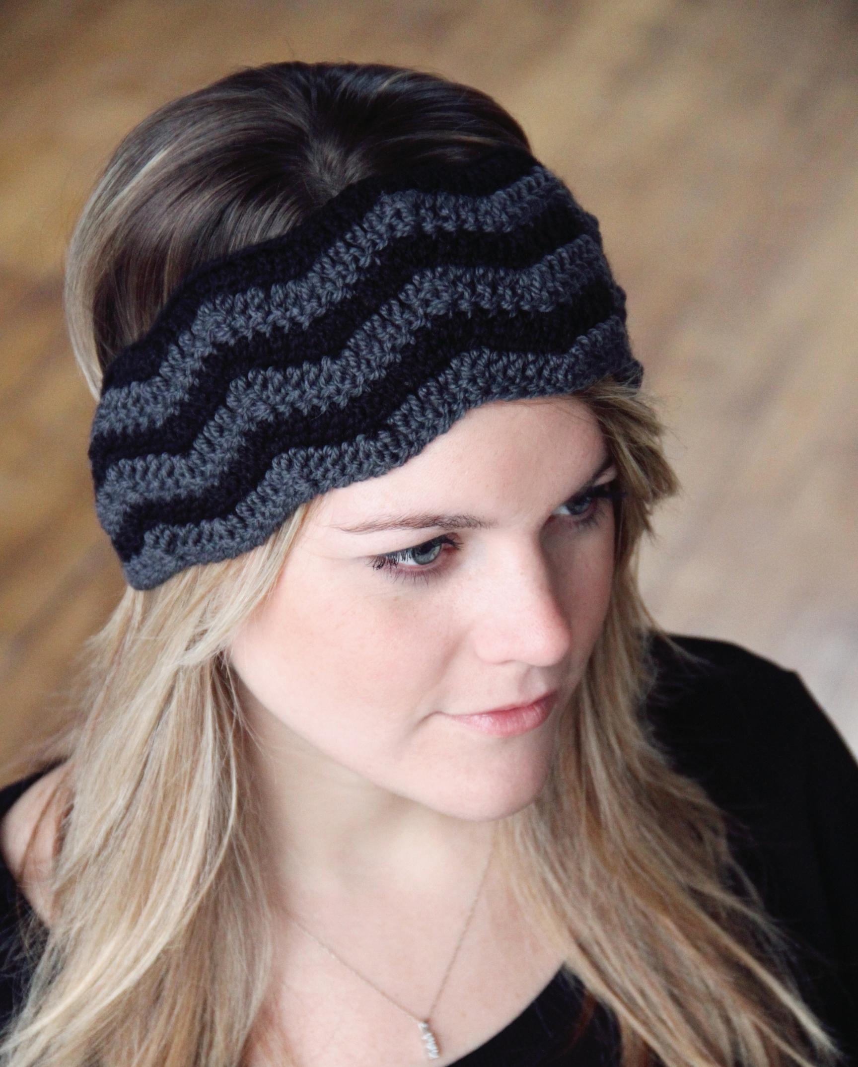 Crochet pattern headband hat women chevron stitch the gina crochet pattern headband hat women chevron stitch the gina dt1010fo