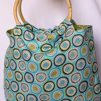 Bamboo Handled Bag {Summertime Medallion}
