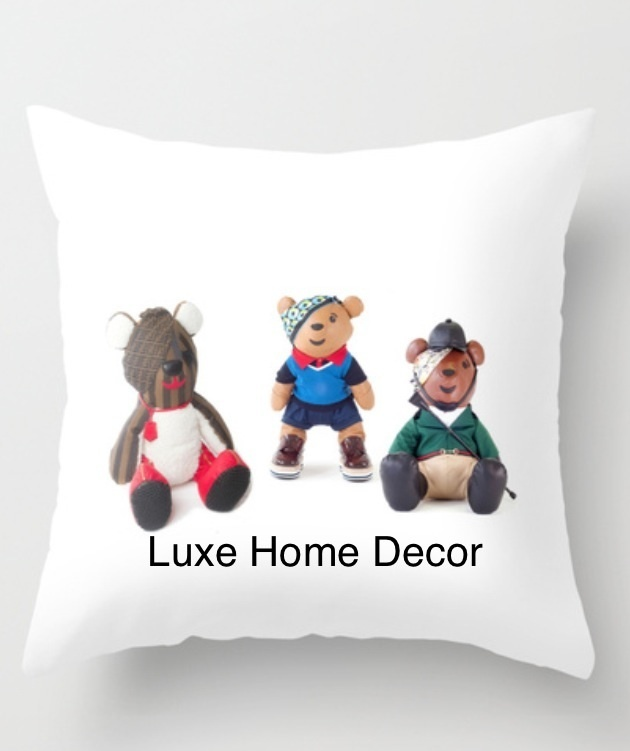Kids designer bear gang pillow luxe home decor furnishings online store powered by storenvy for Decor ingang