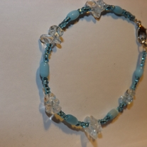 Blue Cats Eye Bracelet