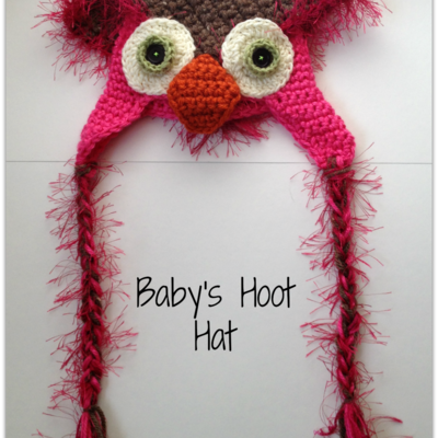 Baby's crocheted hoot hat