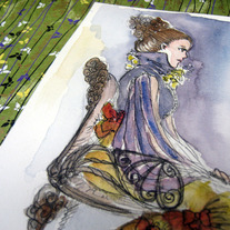 """Sitting Lady"" original watercolour painting"