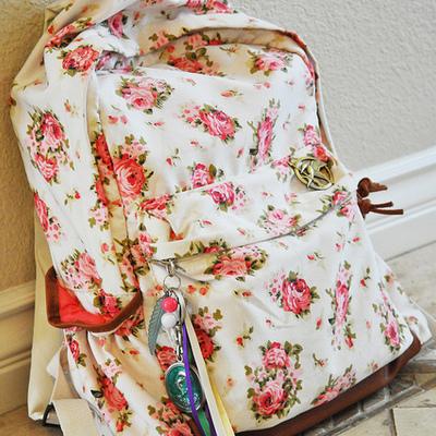 Cute retro backpack