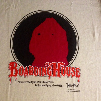 Slasher // video limited edition boardinghouse dvd promo shirt