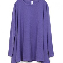 Purple Drape Hemline Dress