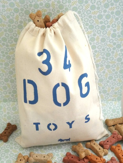 Doggie Toy Bag/Produce Bag/Storage Bag - 34 Dog Toys