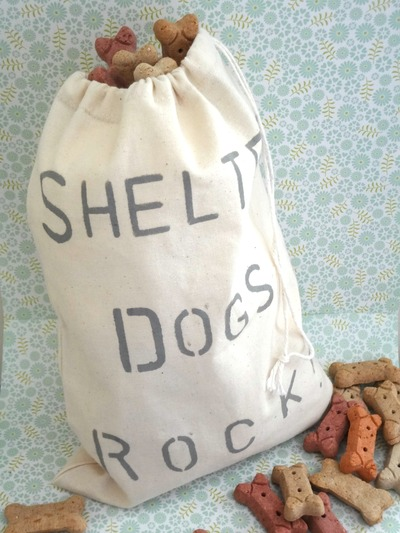 Doggie Storage Bag/Produce Bag/Treats Bag - Shelter Dogs Rock