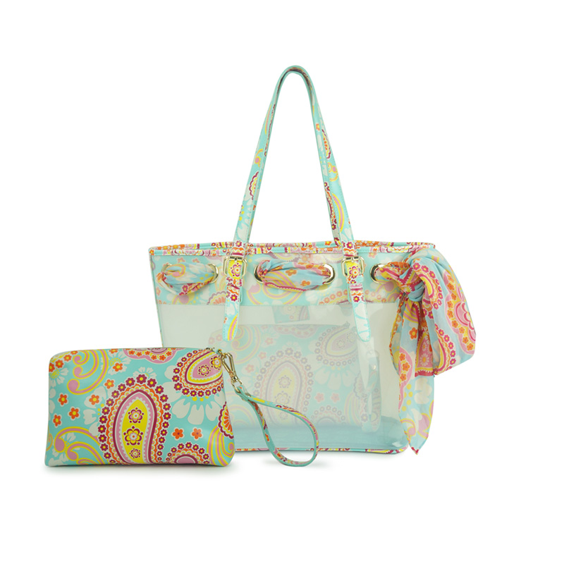 VENUCO Jelly Beach Tote with Scarf · TheIrisGarden · Online Store ...