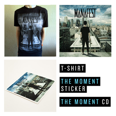 The moment cd, t-shirt & sticker