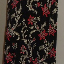 Black Dress with White/Pink Flowers-Liz Lange Maternity Size Medium CLLO1