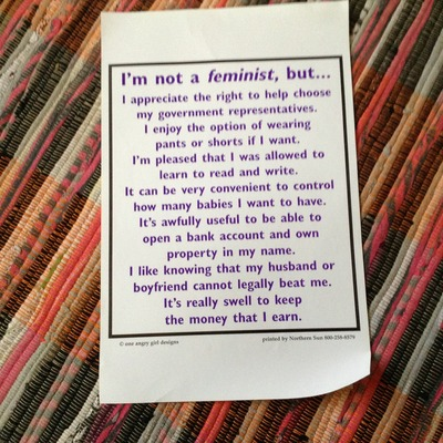Not a feminist poster