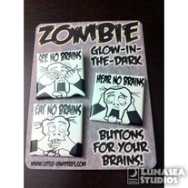 Zombies Button Set