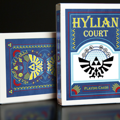 Blue hylian court playing cards