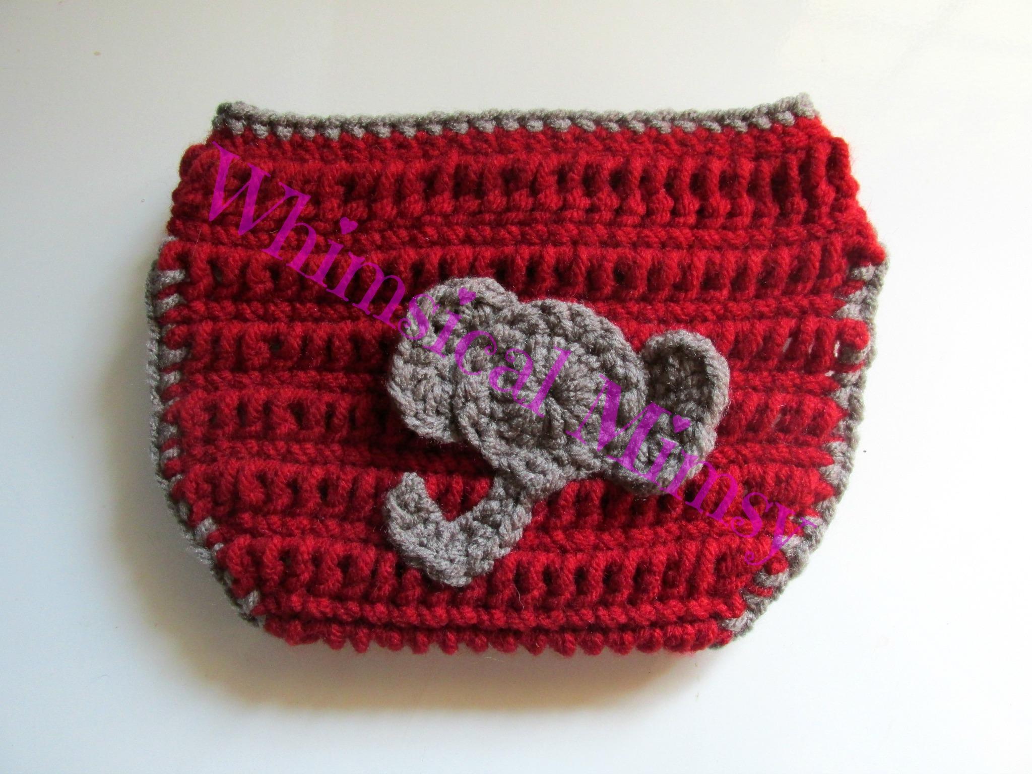 Crochet Alabama Football Inspired Newborn Hat and Diaper Cover Set ...