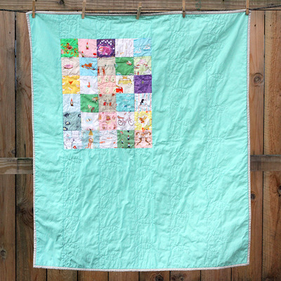 Heather ross patchwork baby quilt
