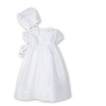 The Childrens Hour- Organza Tucked Bodice Christening Gown