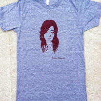 Jesse Face T Shirt - Heather Grey
