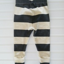 organic cotton charcoal striped leggings
