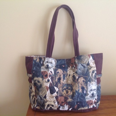 Terriers all over tote!