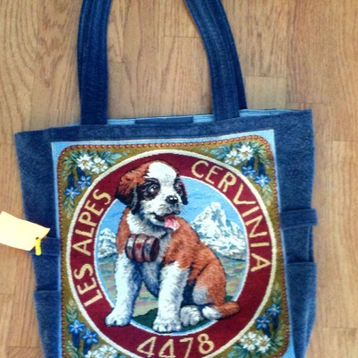 St bernard tapestry bag!