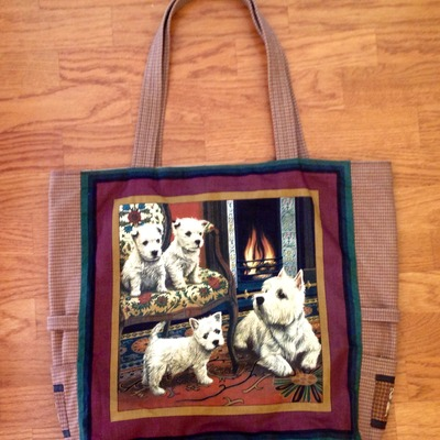 Westie dogs tote bag!