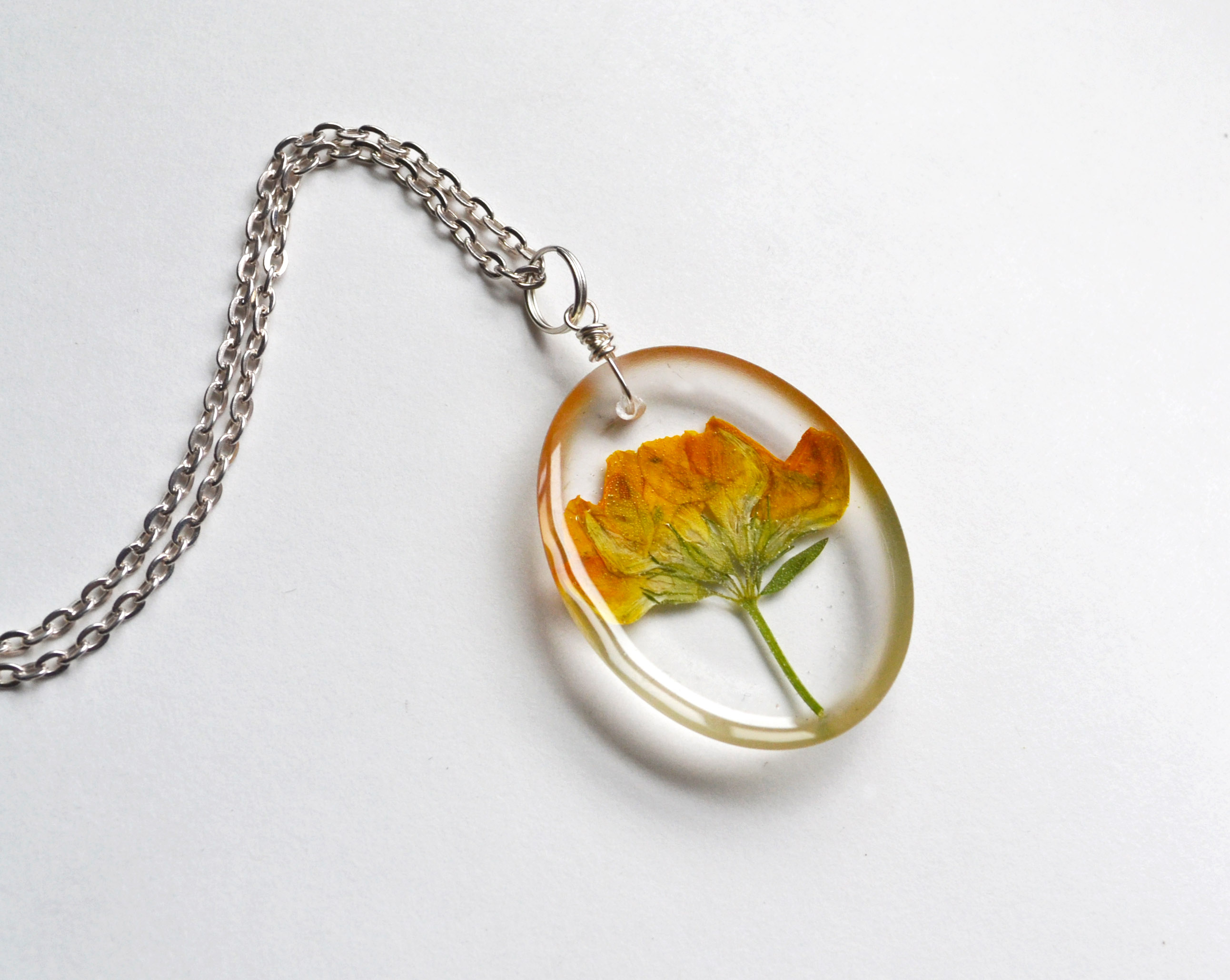 Pressed flower necklacereal flowers in clear resinyellow wood pressed flower necklacereal flowers in clear resinyellow wood sorrel flowers in resin mozeypictures Choice Image