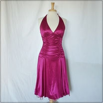 Pink Maroon Prom Dress