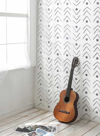 Fishlane Tribal Decorative Scandinavian Wall Stencil Diy